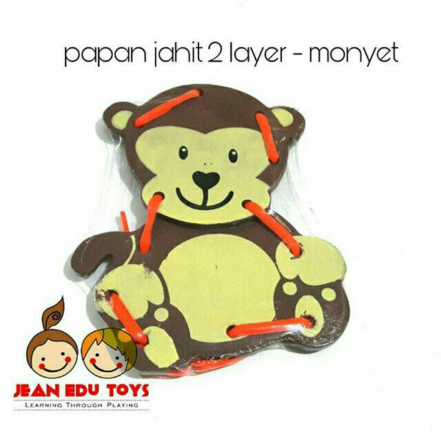 Hg Papan Permainan Gambar Kartun Monyet Untuk Mainan Edukasi Anak