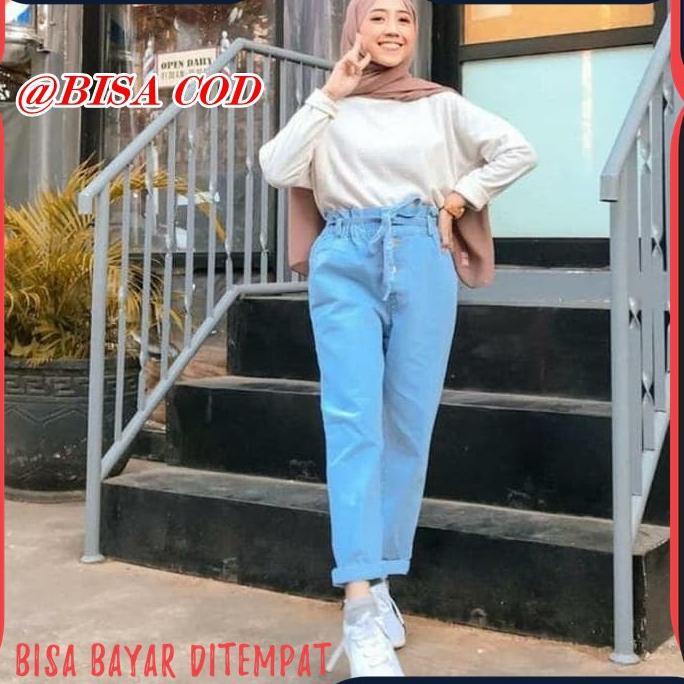 Celana Boyfriend Jeans Tali Jn209 Celana Jeans Wanita Terabru Chelsea Levis Panjang Wanita Kekinian Shopee Indonesia