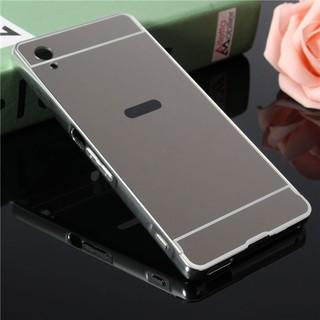 ... Case Mirror Sony Xperia M4 Aqua Alumunium Metal Bumper With Sliding Backcase. habis