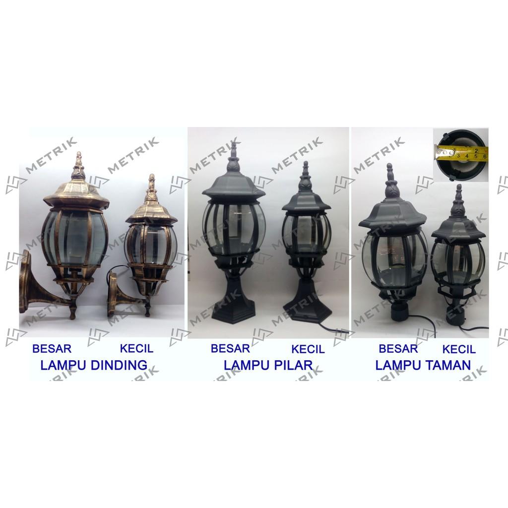 Lampu Dinding Antik Lampu Klasik Outdoor Lampu Taman Lampu Pilar Gb6114 S Shopee Indonesia