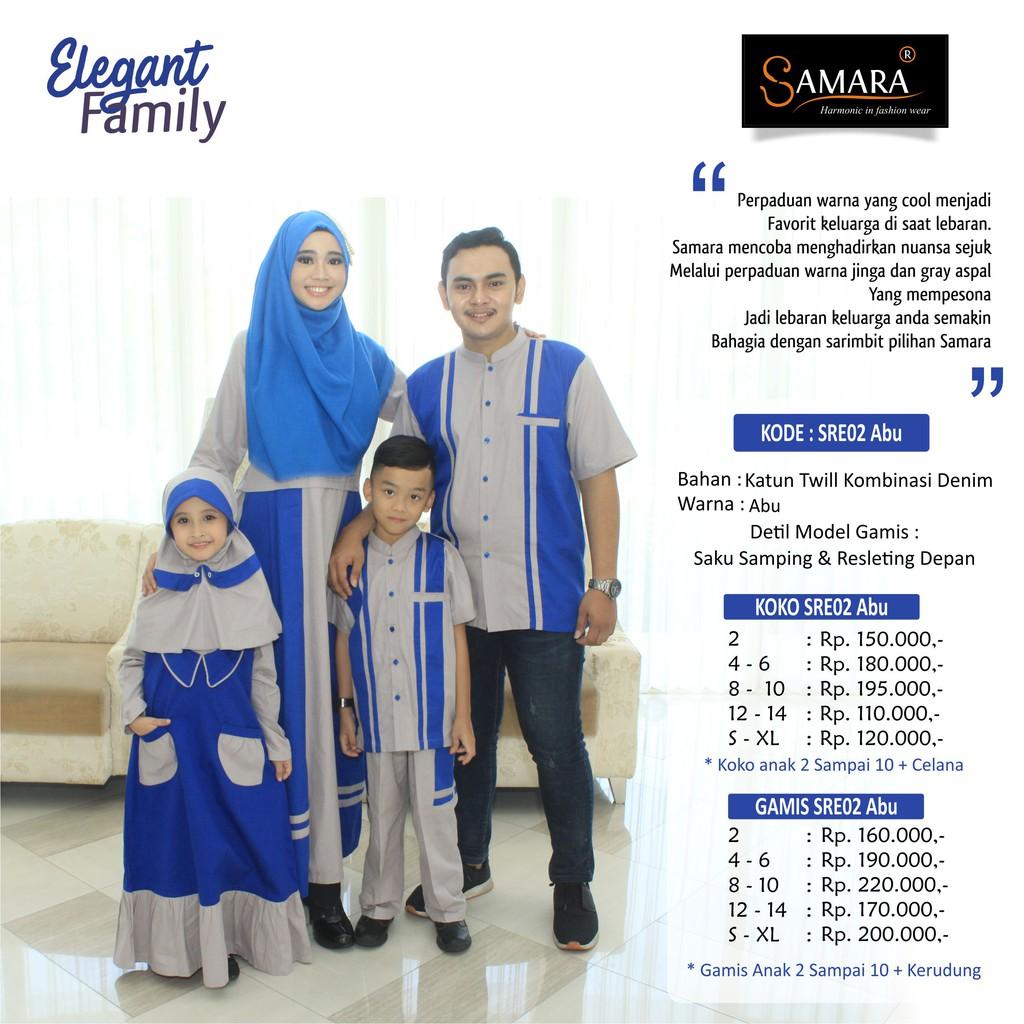 Baju Couple Keluarga Busana Muslim Branded Sarimbit Samaan Gamis Syari Koko Pria Anak Lebaran SAMARA | Shopee Indonesia