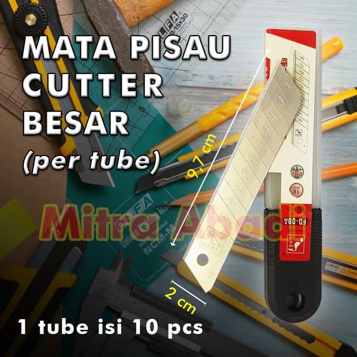 MA.186 REFILL Mata Pisau Cutter Ukuran Besar / Jumbo 18 mm ( 1 TUBE =