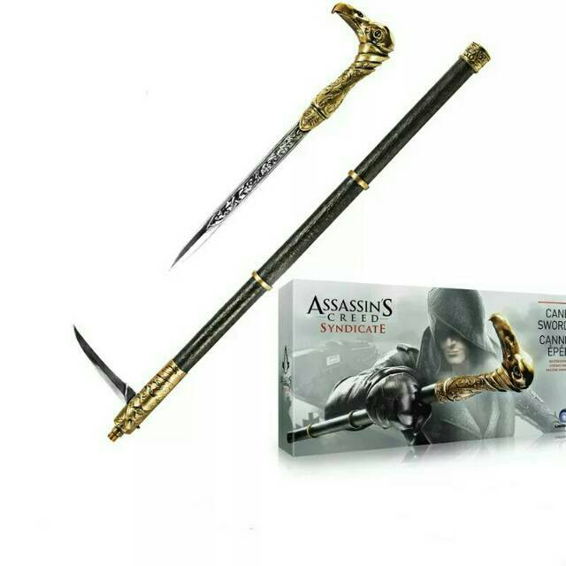 Assassins Creed Hidden Blade Cane Sword Shopee Indonesia
