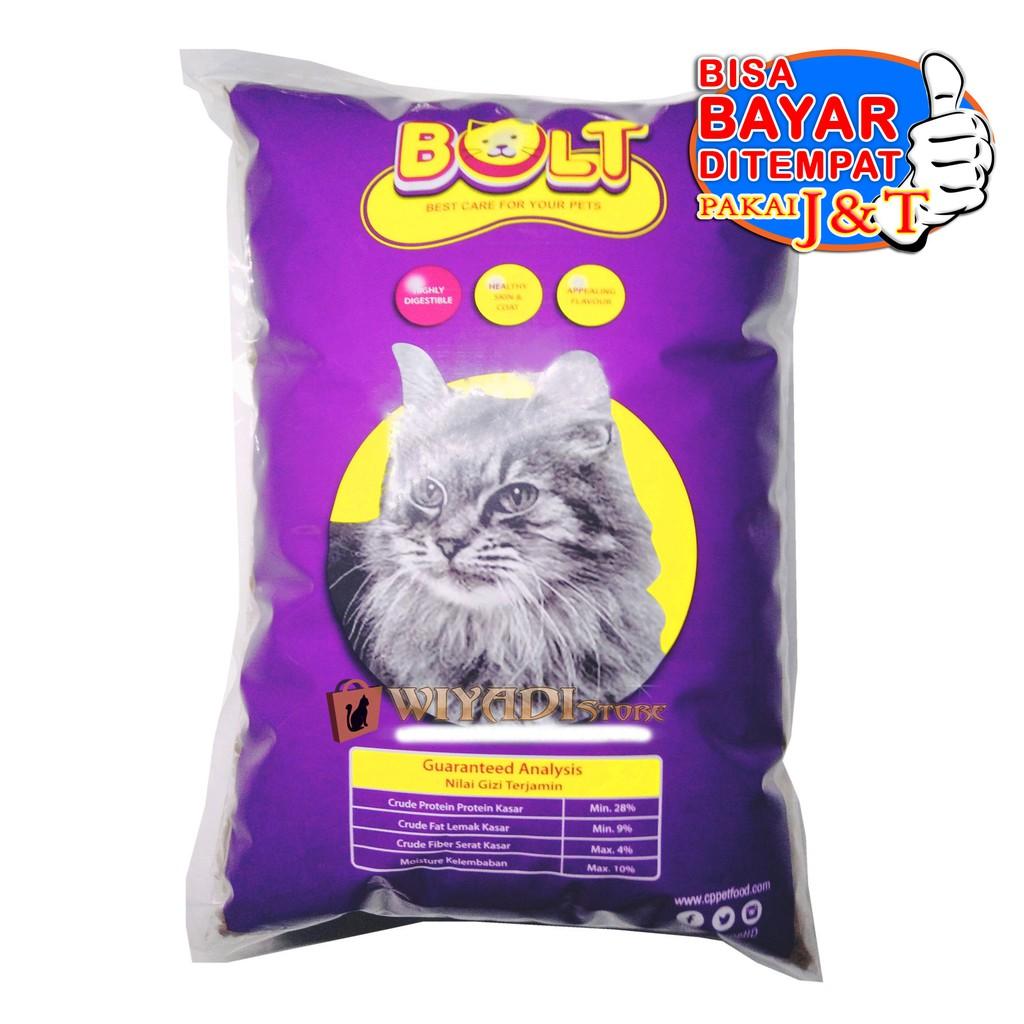 Makanan Kucing Pasti Suka Bagus Murah Bolt Repack 500gr Shopee