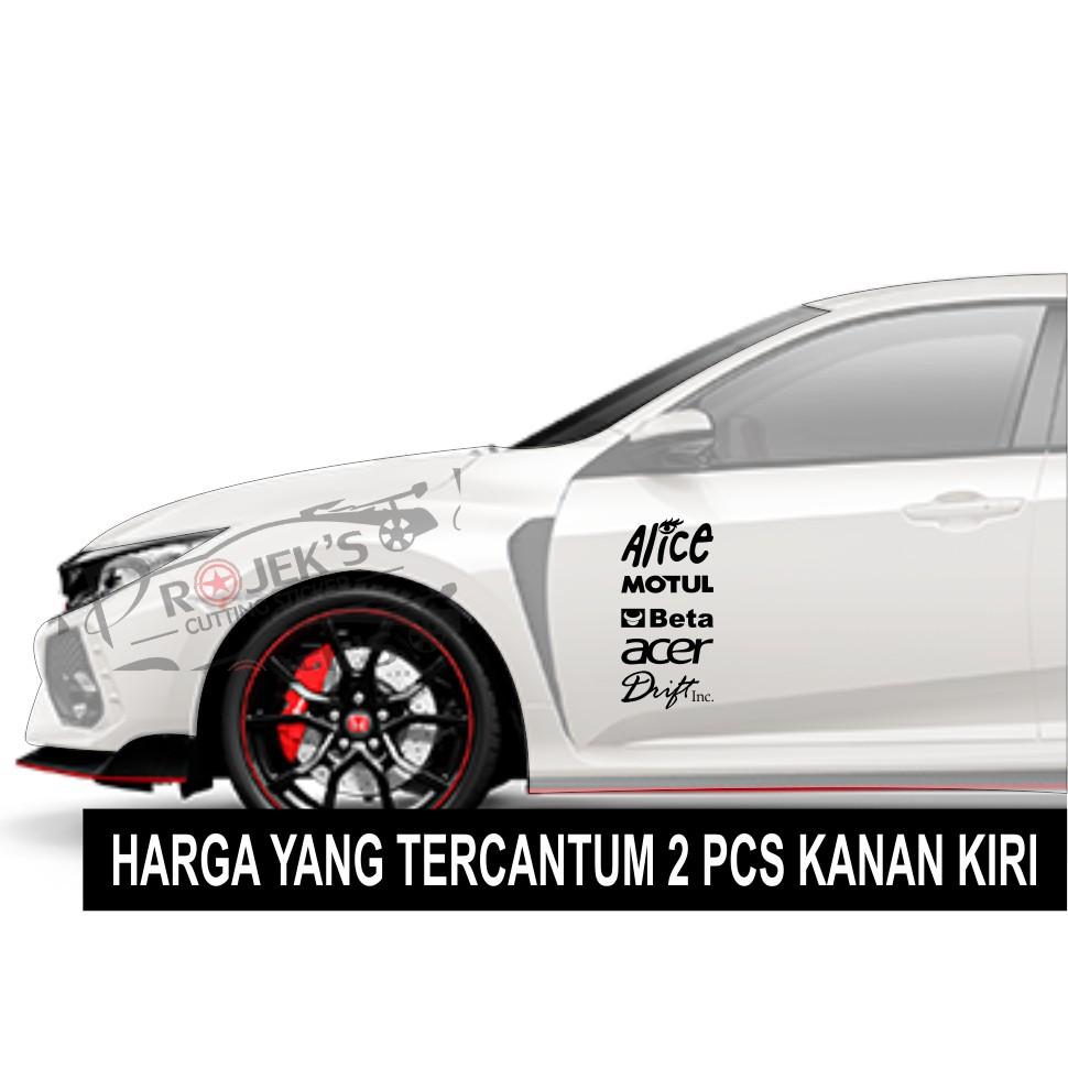 Termurah Cutting Sticker Mobil Stiker Tulisan Racing Tulisan Samping Pintu Mobil Dunia Printing Shopee Indonesia