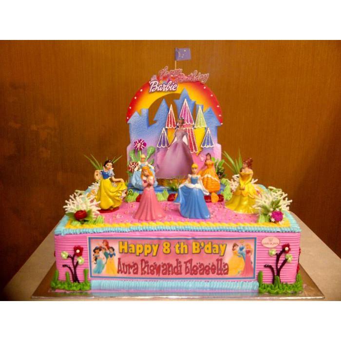 Figure Disney Princess Topper Hiasan Kue Ulang Tahun Karakter Kue