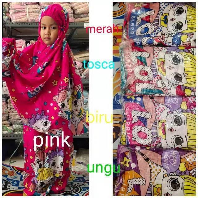 Mukena Anak Katun Frozen Hello Kitty Lol Kuda Poni Shopee Indonesia
