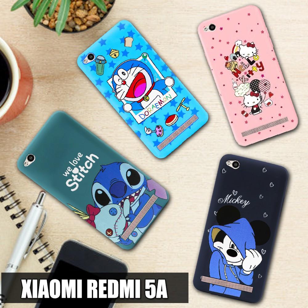 3D Case Xiaomi Redmi 5A Softcase Karakter Doraemon Stitch