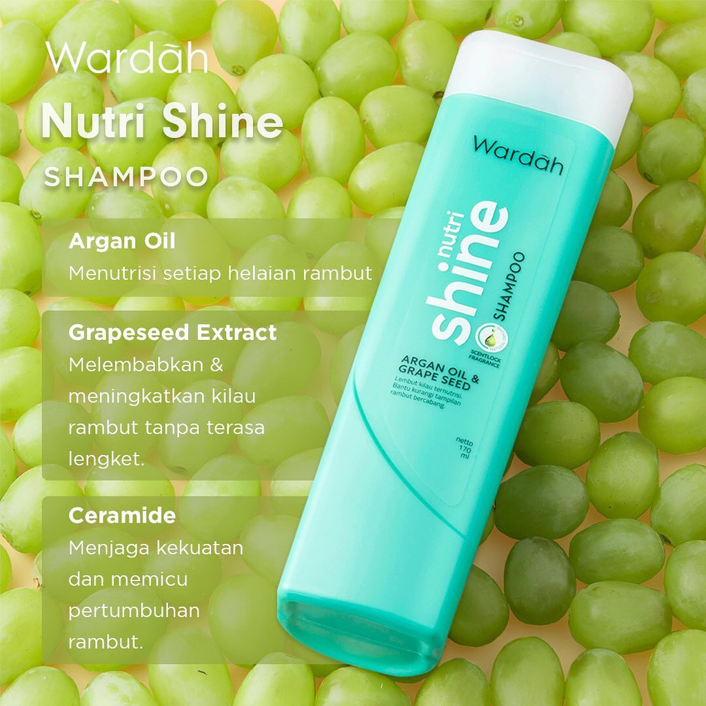 Wardah Nutri Shine Shampoo 170 ml-1