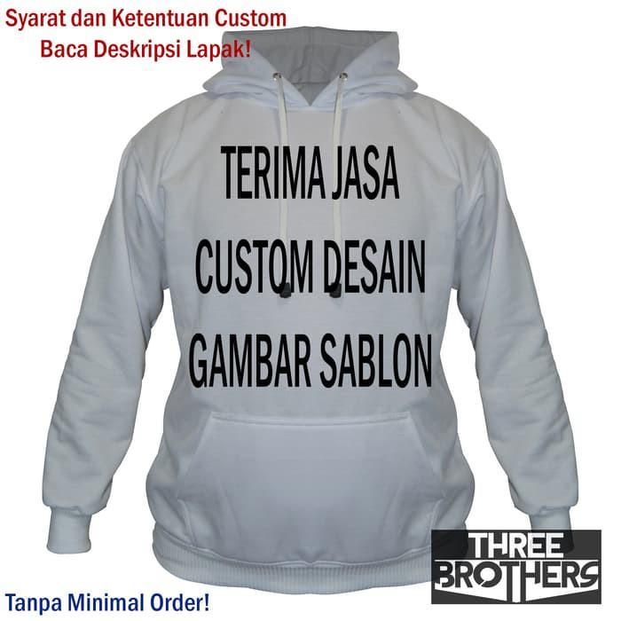 Custom Sweater Hoodie Jumper Polos Desain Sablon Satuan Couple Sweater Jaket Distro Best Seller Shopee Indonesia
