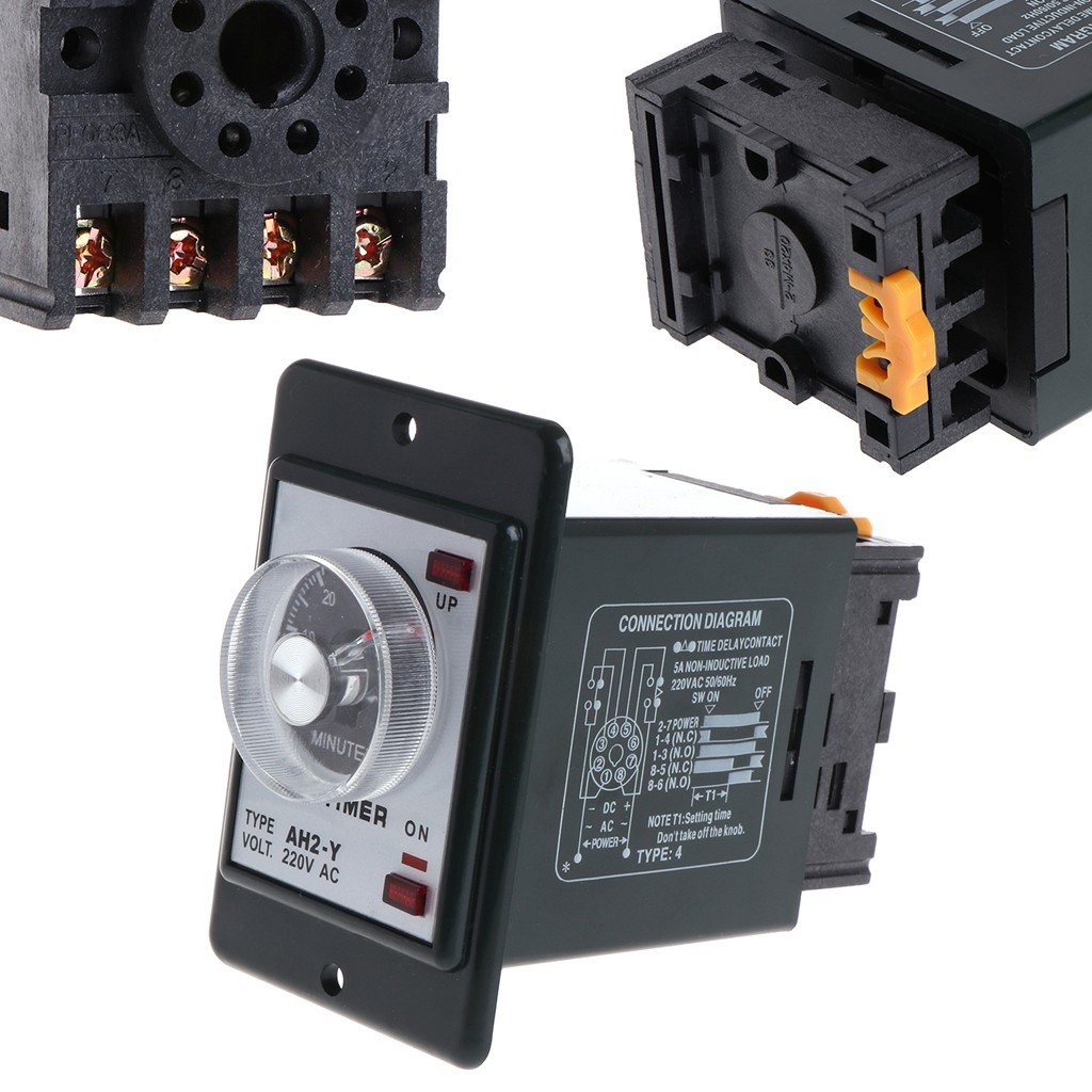 Time Delay Relays Electrical Equipment & Supplies AC 220V H3Y-2 0