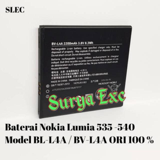 Baterai Microsoft Nokia Lumia 535 / 540 BV-L4A BVL4A ORI 100% Original