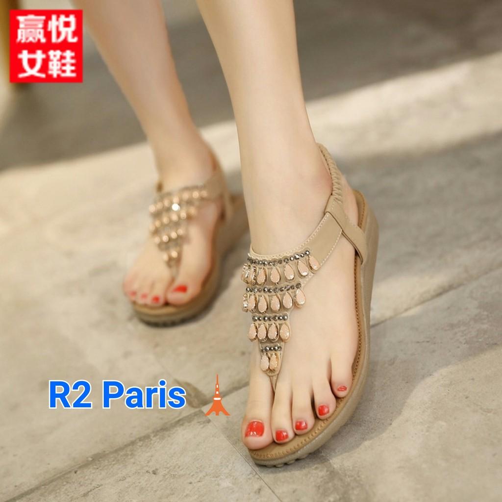 Jual R2 Sepatu Sandal Belly Hitam dan Coklat Susu Diskon | Shopee Indonesia
