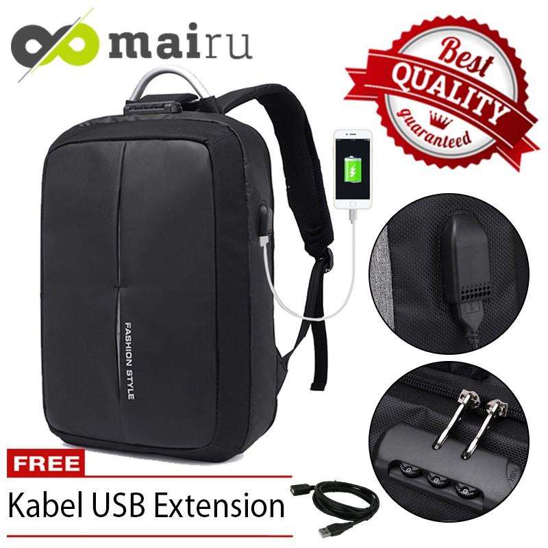 Unique Tas Ransel Laptop Backpack Kanvas Travel Unisex Korea ... 57a3d5ad2e