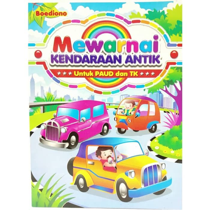 Edukasi Anak Paud Tk Mewarnai Kendaraan Antik Promo Ts Shopee Indonesia