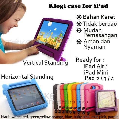 Ibuy Silicone Case Samsung Ipad Mini 1 2 3 4 iPad 2 3 4 air 1 2 3 new 2018 EVA Foam Kids Standing   Shopee Indonesia
