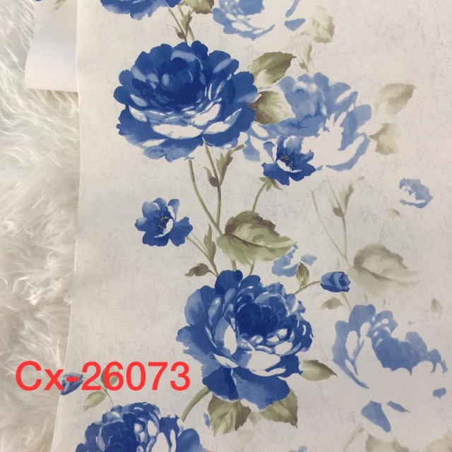 Wallpaper Dinding Bunga Mawar Biru Sale Shopee Indonesia