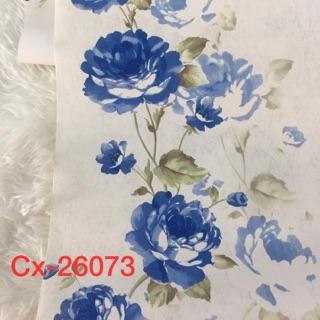 Wallpaper Dinding Bunga Mawar Biru Sale