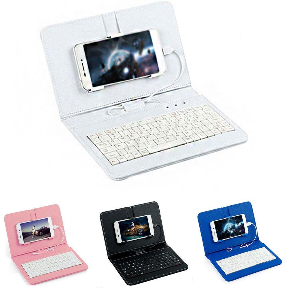 Aksesoris Handphone Cover Keyboard Dengan Kabel Model Flip Untuk Ponsel Android Otg 4 5 6 5 Inci Shopee Indonesia