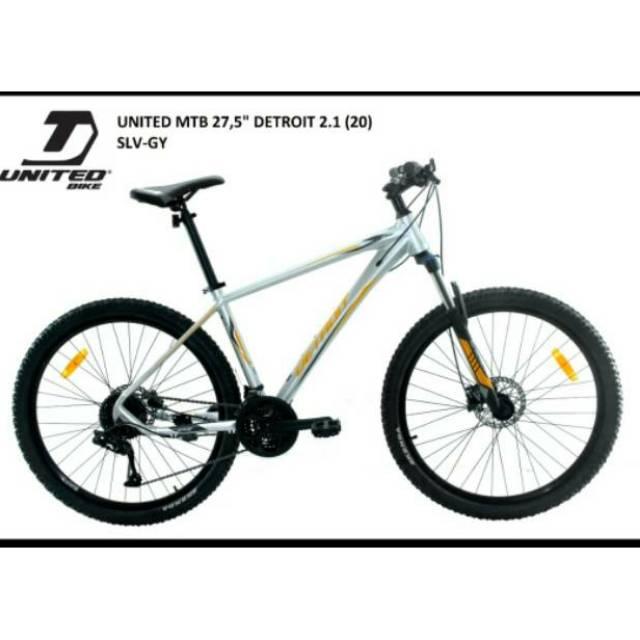 Sepeda Gunung 27 5 Mtb United Detroit 2 1 New Shopee Indonesia