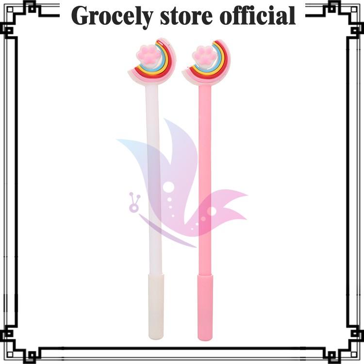 Grocely PP06 pulpen gel motif rainbow Pelangi lucu imut ...