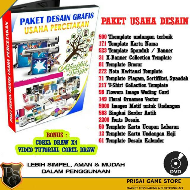 cd dvd paket desain cetak untuk usaha percetakan coreldraw logo banner template undangan shopee indonesia cd dvd paket desain cetak untuk usaha percetakan coreldraw logo banner template undangan