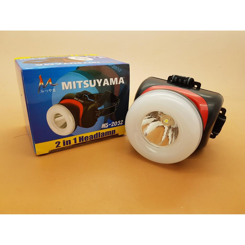 Headlamp Senter Kepala 2 In 1 Fokus Super Terang Mitsuyama Ms 2032 Model Mata Kucing Shopee Indonesia