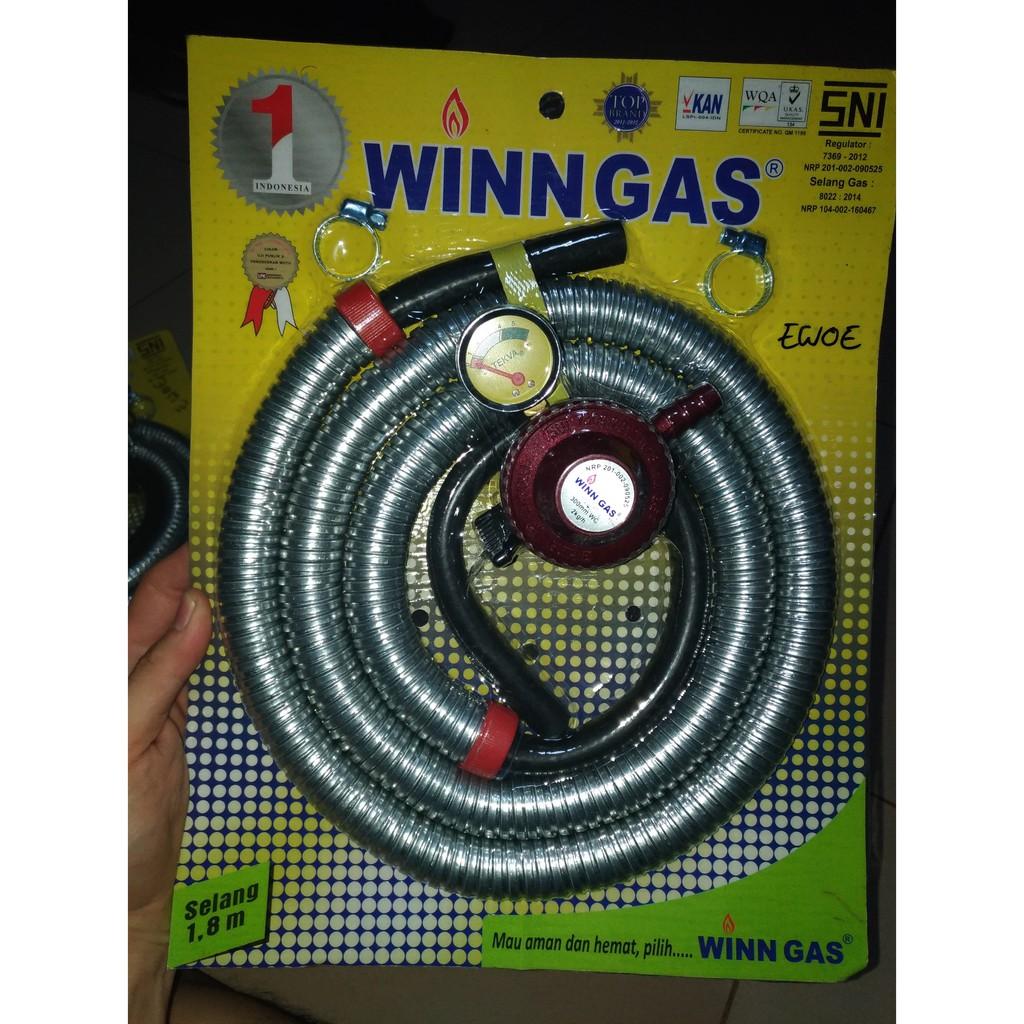 Buy 1 Get Kompor Gas Tungku Selang Dan Regulator Winn Dg154 Hitam Shopee Indonesia