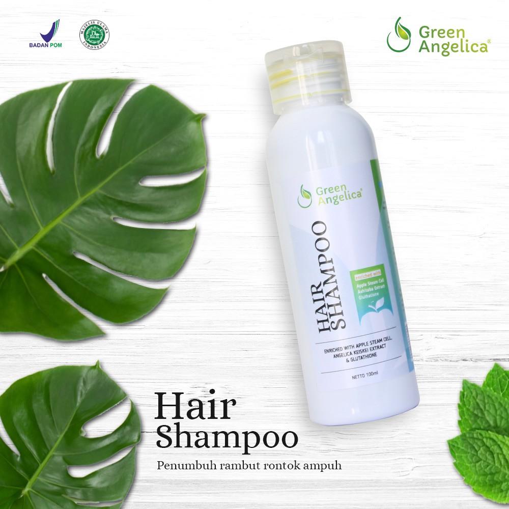 Shampo Penumbuh Rambut Cepat herbal alami tanpa efek samping Green Angelica  ORI  4682ad4c62