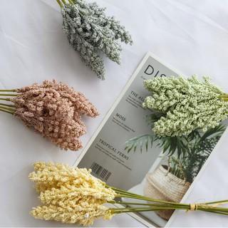 6pcs / buket bunga buatan dengan bahan sutra untuk hiasan