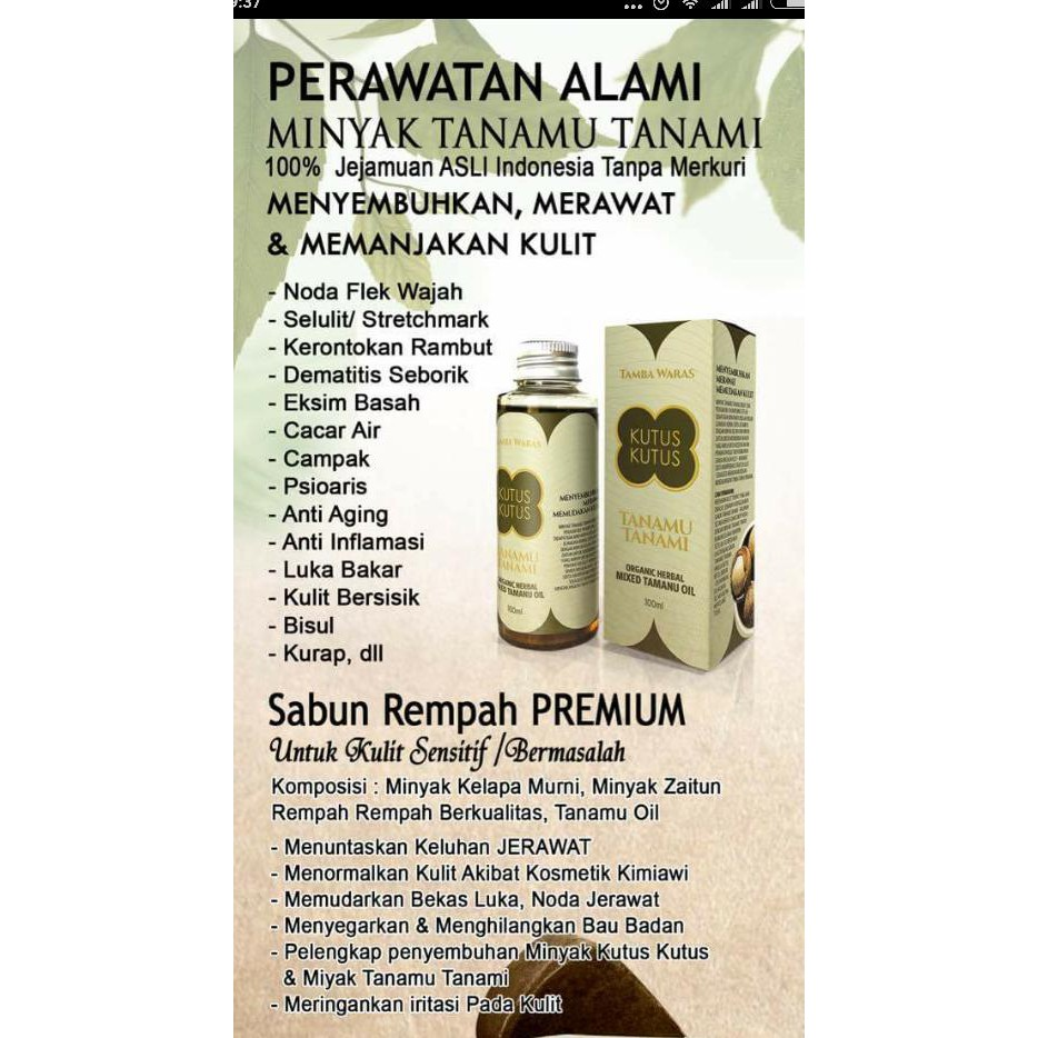 Hot Minyak Tanamu Tanami Shopee Indonesia Original Free Spray