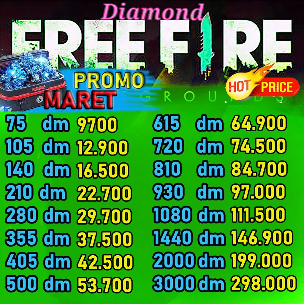 Top Up Diamond Ff Promo Dm Free Fire Murah Cepat Top Up Freefire Garena Shopee Indonesia