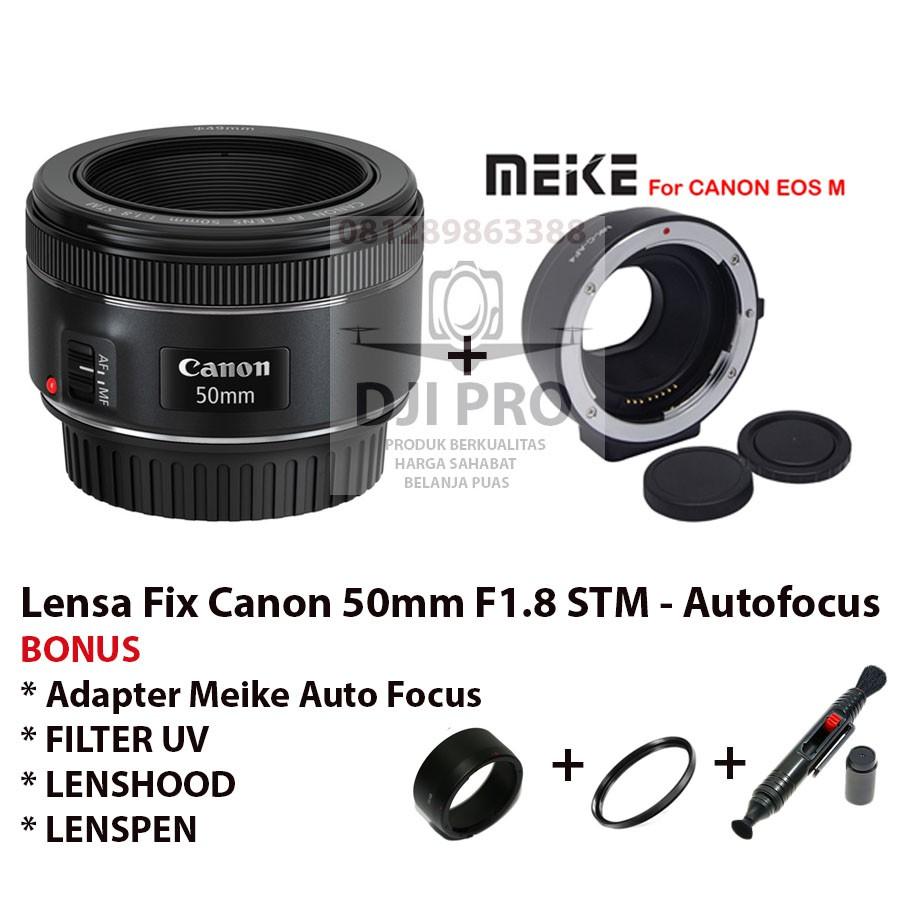 Lensa Fix Canon 50mm Stm F 18mm New Garansi Pt Datascrip 1 Eos M10 Kit 15 45mm 35 63 Is White Tahun Shopee Indonesia