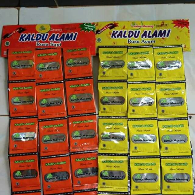 Kaldu Alami Per Pack Kemasan saset 3gr isi 30 saset Jamur Merang / sapi/ ayam | Shopee Indonesia