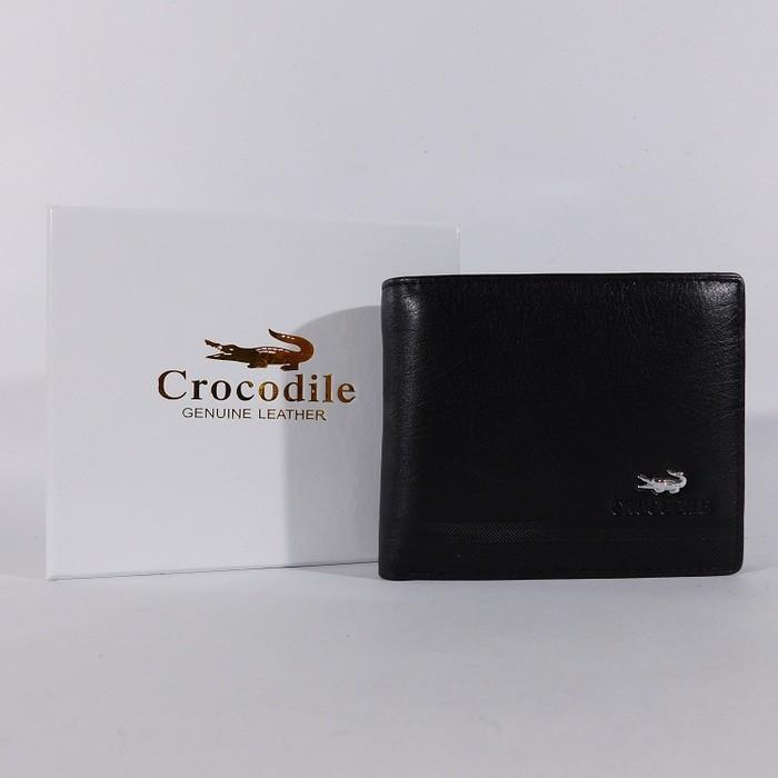 b3016bf0795 DOMPET COWOK PRIA KULIT ASLI BRANDED CROCODILE 1201-12 HITAM | Shopee  Indonesia