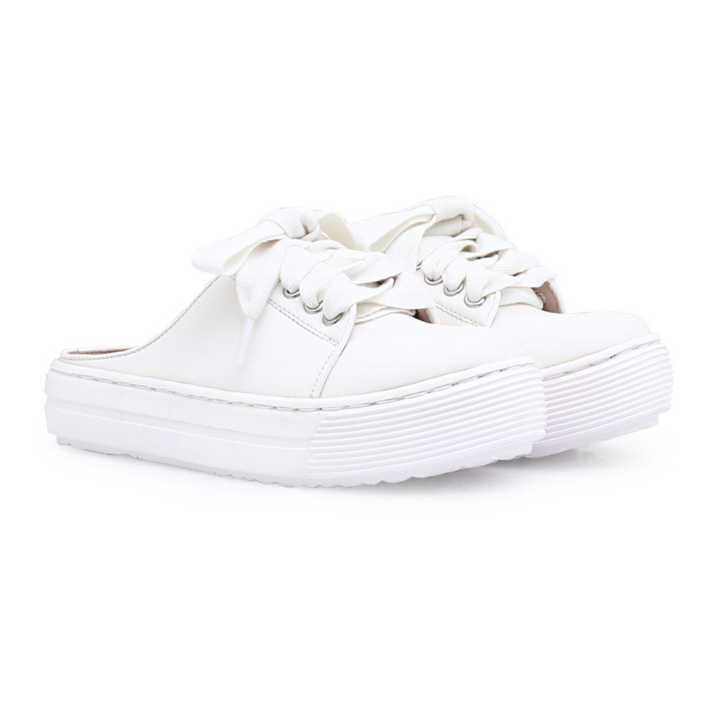Cloxvox White Sneakers Shopee Indonesia Amazara Vanessa Almond Beige 36