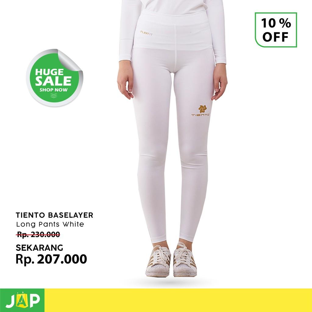Tiento Celana Panjang Unisex Putih Emas Legging Celana Ketat Olahraga Fitness Lari Original Shopee Indonesia