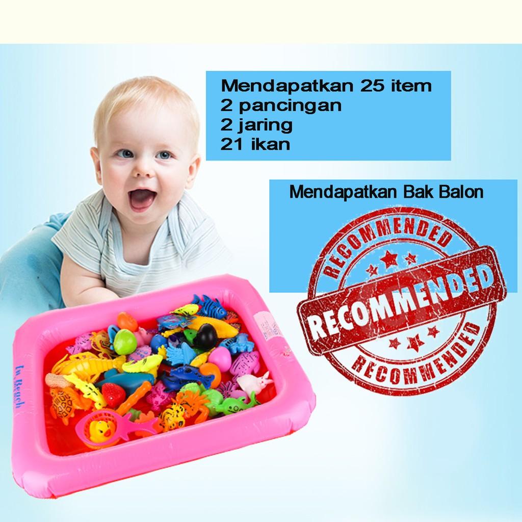Mainan Anak Kolam Ikan 60Pcs  32e3036816