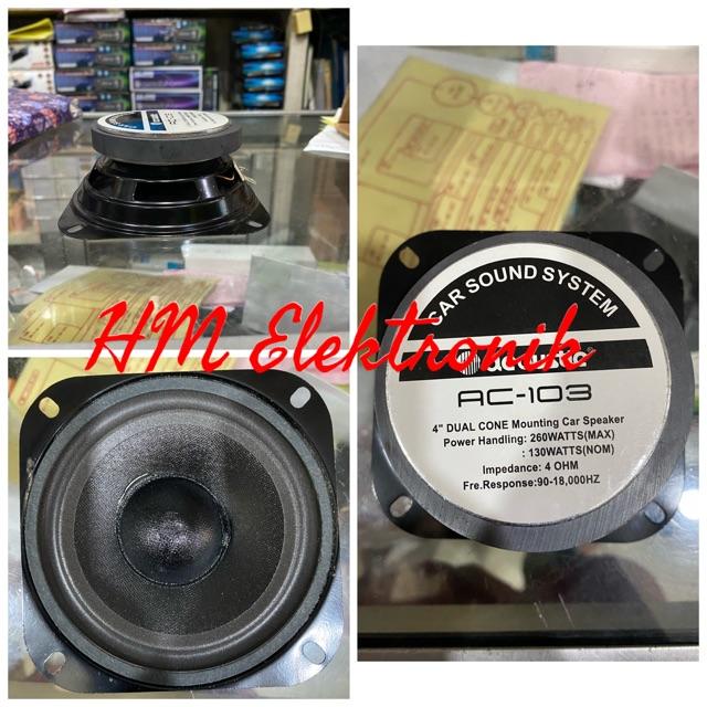 Speaker Car sound Acoustic 103 woofer 4inch