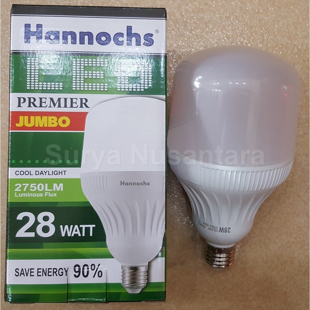 Lampu Led Ledbulb Basic Hannochs 3w 3 Watt Terang Bergaransi Premier Shopee Indonesia