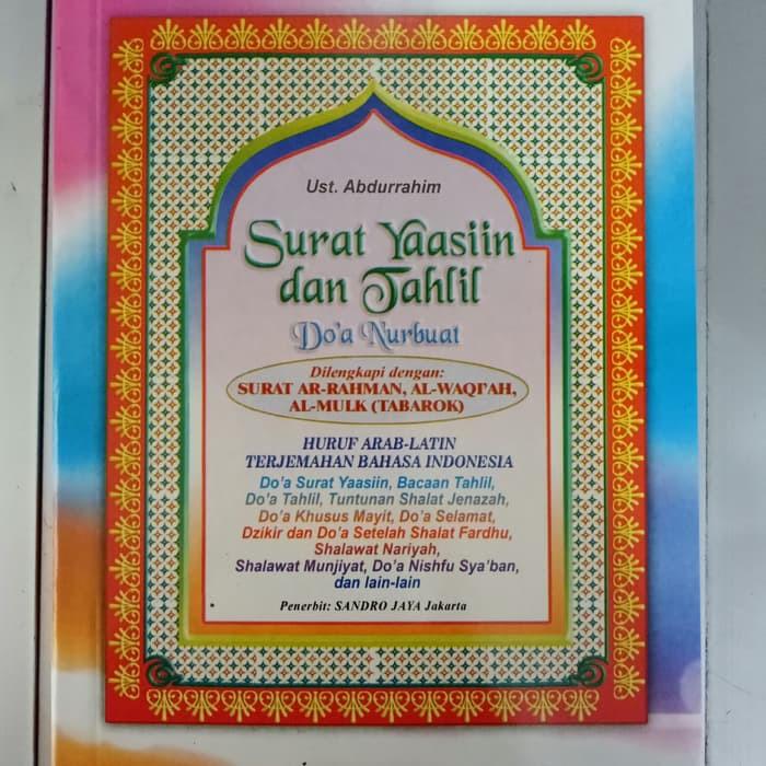 Big Sale Buku Yasin Tahlil Dan Doa Nurbuat Dilengkapi Surat Tabarok