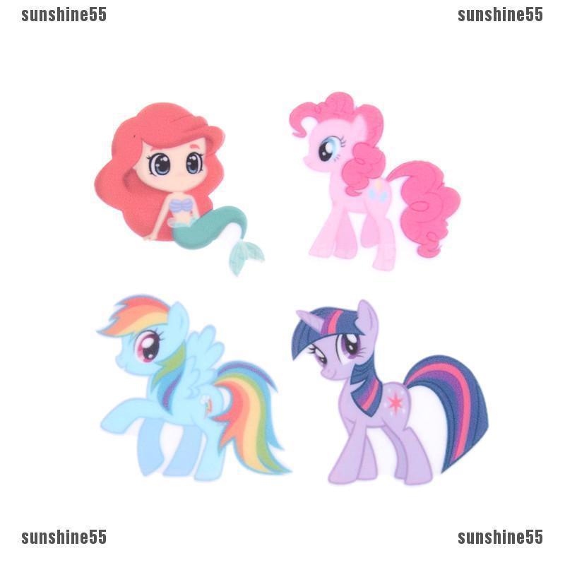 10pcs Aksesoris Resin Flatback Kartun Unicorn My Little Pony Mermaid Untuk Diy Aksesoris Cabochons Shopee Indonesia