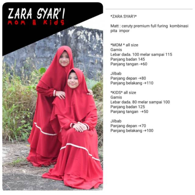 picture regarding I Mom identified as Gamis number of zara syari mother youngsters Shopee Indonesia