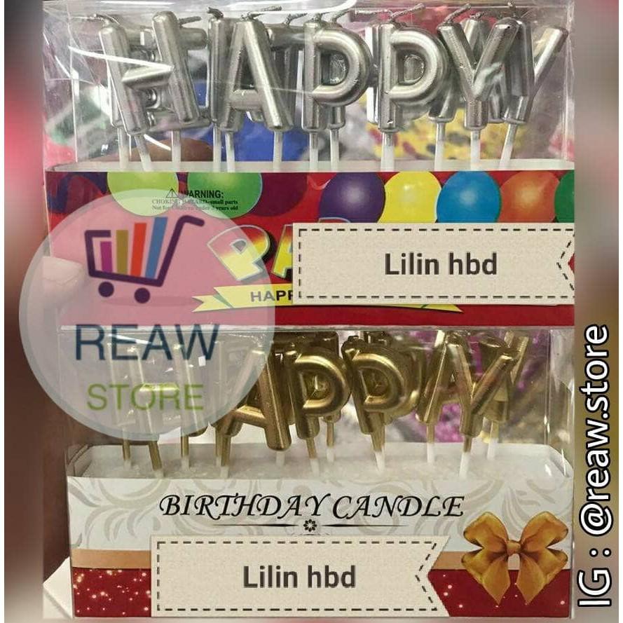 Lilin Angka Ulang Tahun / Happy Birthday GLITTER SILVER | Shopee Indonesia