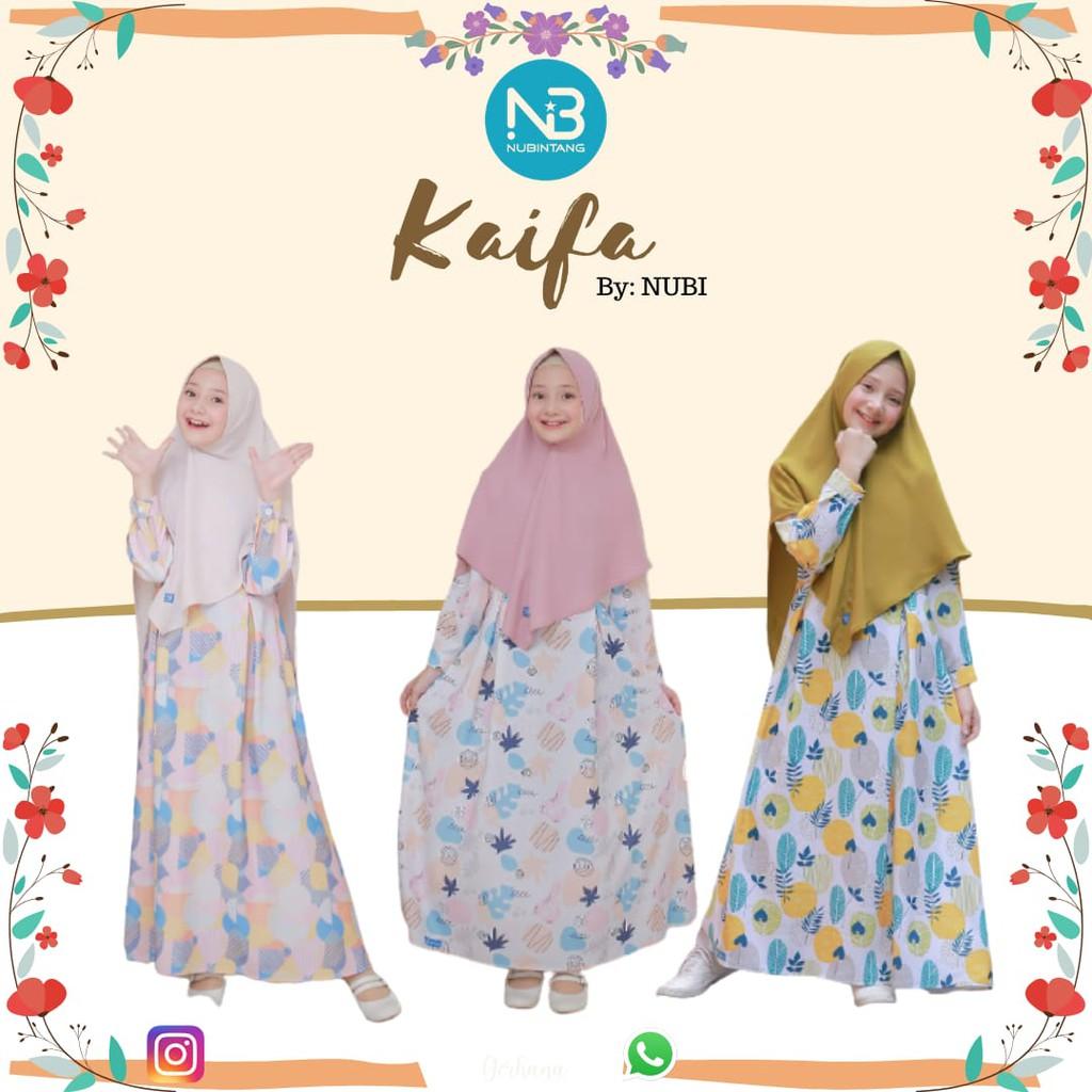Gamis Anak Kaifa Set Jilbab by NuBintang