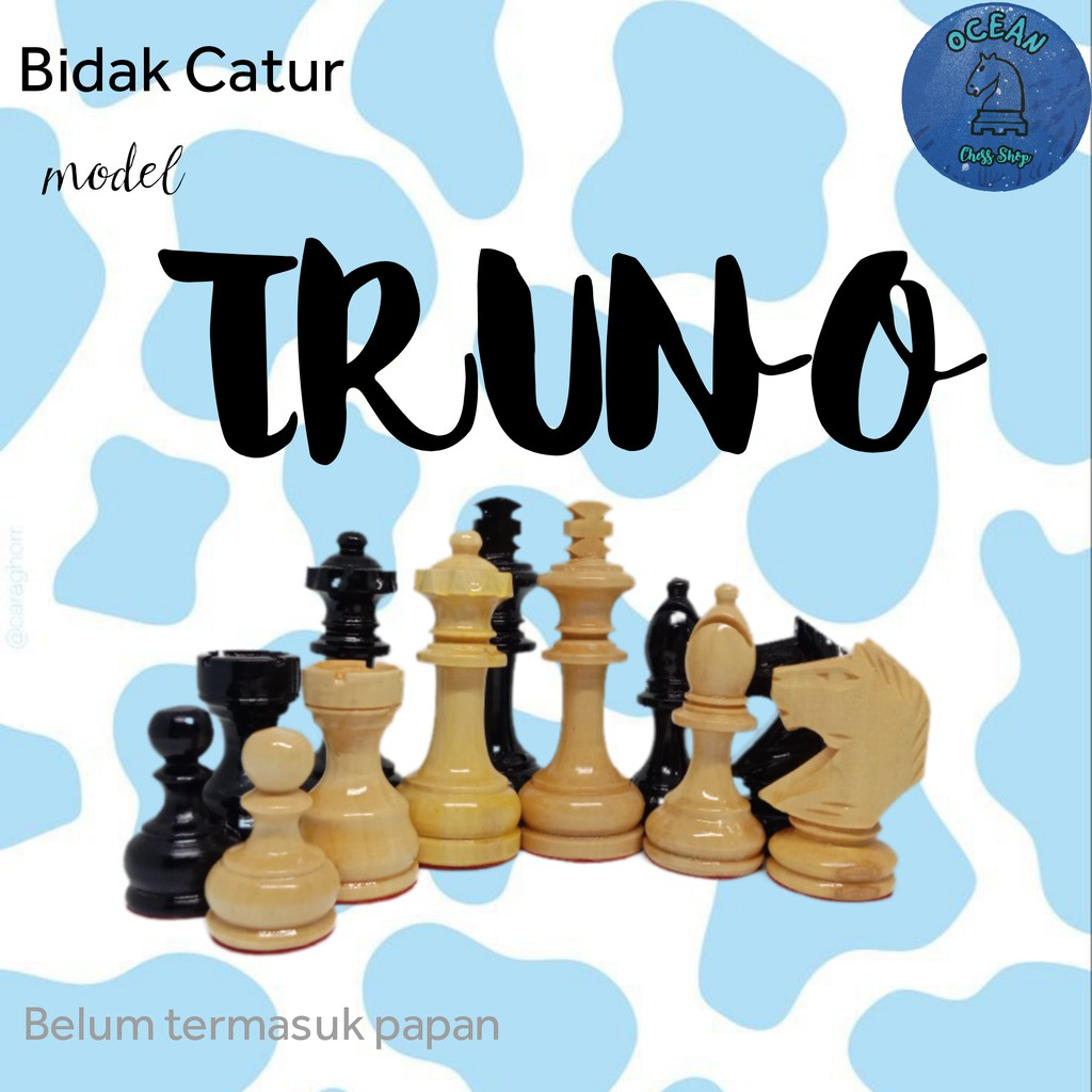 Bidak Catur Kayu Mentaos model Truno Premium (Standar Internasional)