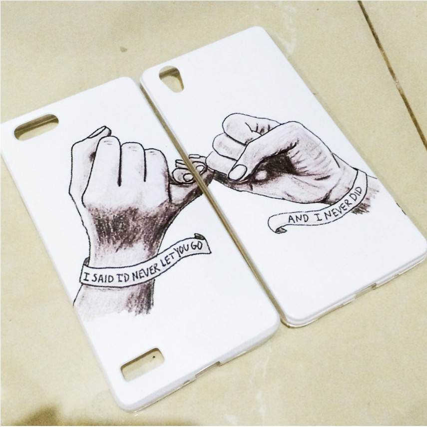 Cod Garansi Custom Case Premium Softcase Silikon Couple Tangan