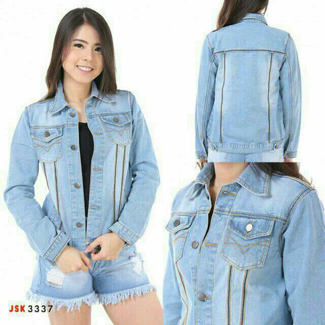 WE2026 Jaket jeans vintage - bad ripped Sandwash  de71fe2530