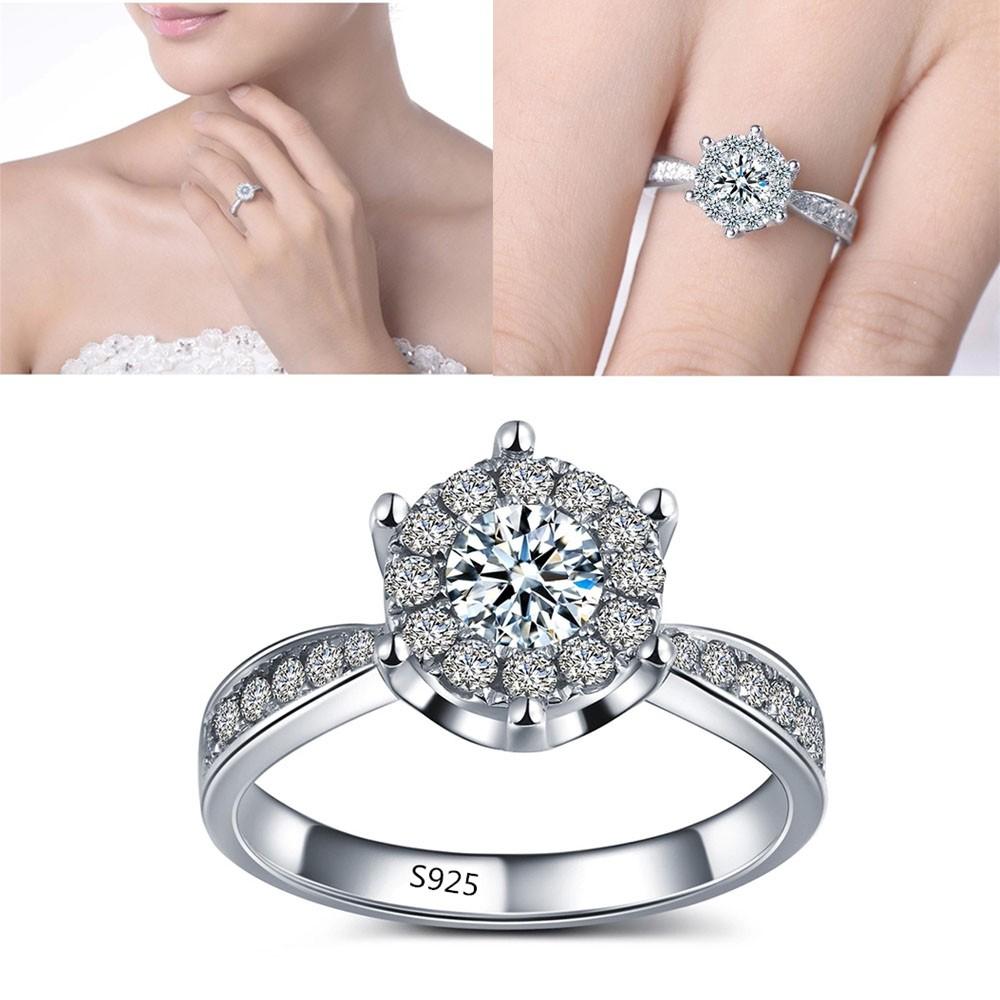 Belanja Online Cincin Aksesoris Fashion Shopee Indonesia Rose Ring Emas Berlian Perhiasan Kawin