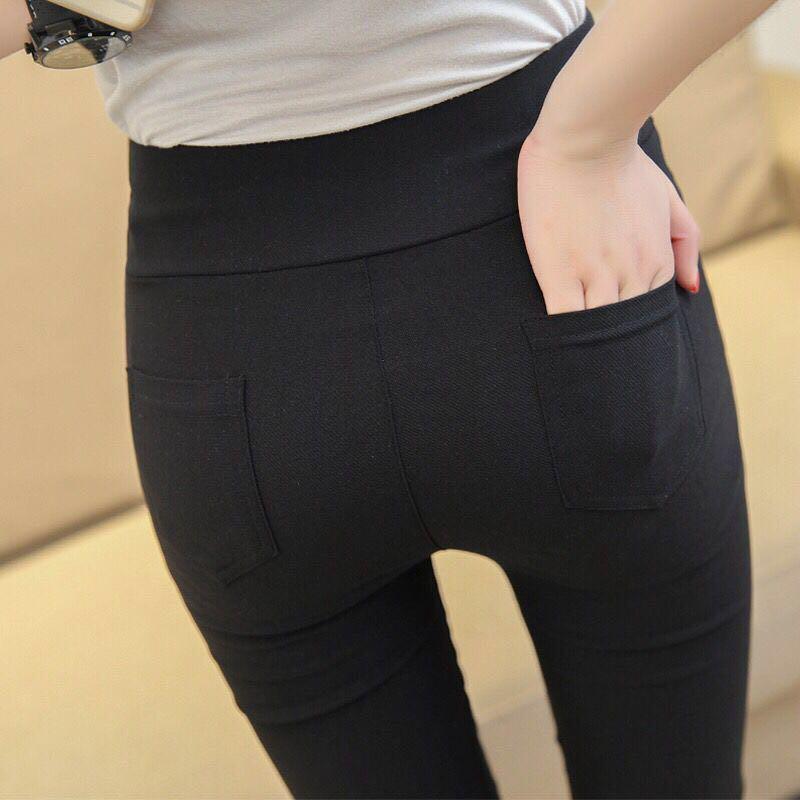 Celana Legging Panjang Wanita Bahan Elastis Untuk Musim Semi Gugur Shopee Indonesia